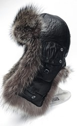 шлем меховой 6251--енот