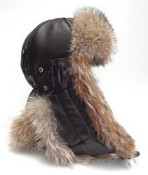 шлем меховой 6251--койот