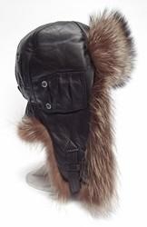 шлем меховой 6257--енот