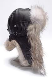 шлем меховой 6257--койот